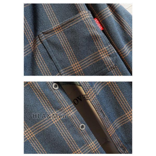 チェックシャツ シャツ メンズ 長袖 カジュアルシャツ 長袖シャツ 40代 50代 トップス 秋服 お兄系 新作|allforever|07