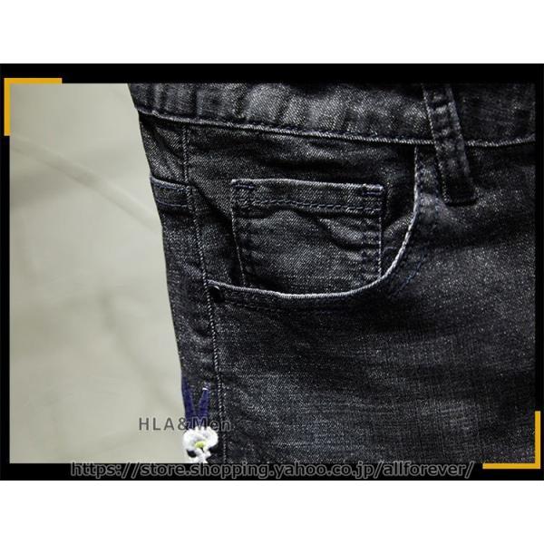 デニムパンツ メンズ おしゃれ ジーンズ デニム ストレッチ 刺繍 テーパードパンツ かっこいい 2019秋冬 新作 allforever 09