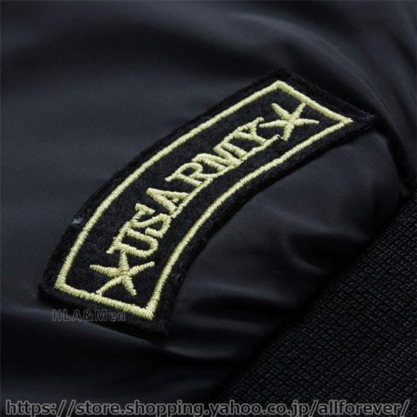 ジャケット MA1 メンズ リバーシブル ナイロンジャケット フライトジャケット スタジャン ミリタリー アウター 両面着用 2019秋冬 新作|allforever|14