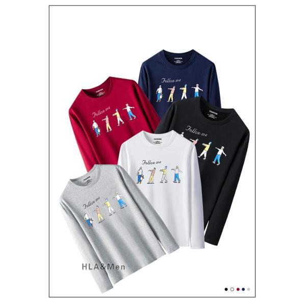 プリントTシャツ メンズ Tシャツ クルーネック 長袖Tシャツ ティーシャツ コットンTシャツ トップス おしゃれ 2019秋冬 新作|allforever|04