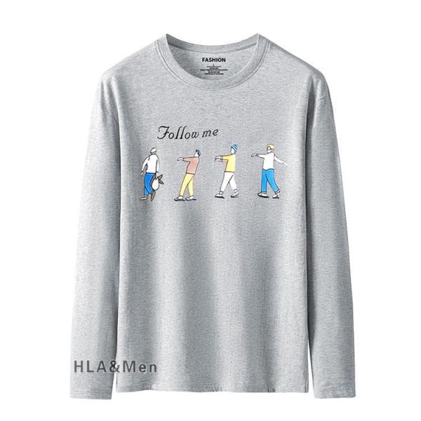 プリントTシャツ メンズ Tシャツ クルーネック 長袖Tシャツ ティーシャツ コットンTシャツ トップス おしゃれ 2019秋冬 新作|allforever|05