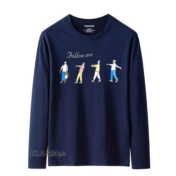 プリントTシャツ メンズ Tシャツ クルーネック 長袖Tシャツ ティーシャツ コットンTシャツ トップス おしゃれ 2019秋冬 新作|allforever|06