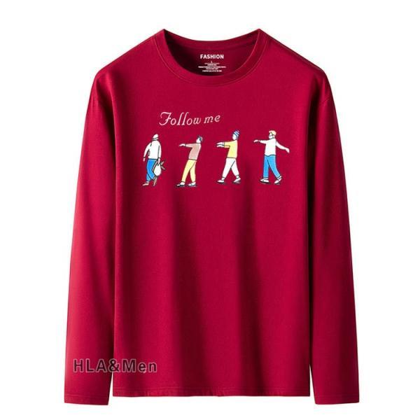 プリントTシャツ メンズ Tシャツ クルーネック 長袖Tシャツ ティーシャツ コットンTシャツ トップス おしゃれ 2019秋冬 新作|allforever|07