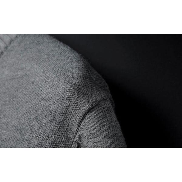 セーター メンズ Vネック 無地セーター ニットセーター 薄手 ハイゲージ トップス お兄系 カジュアル 2019秋冬 新作 allforever 16
