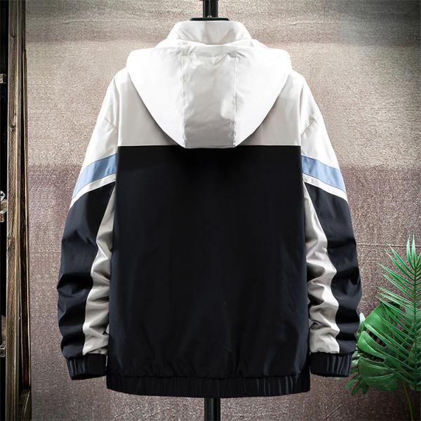 ウィンドブレーカー メンズ ジャケット 薄手 マウンテンパーカー ジャンパー ライトアウター 切替 お兄系 allforever 05