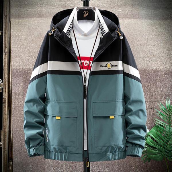 ウィンドブレーカー メンズ ジャケット 薄手 マウンテンパーカー ジャンパー ライトアウター 切替 お兄系 allforever 06