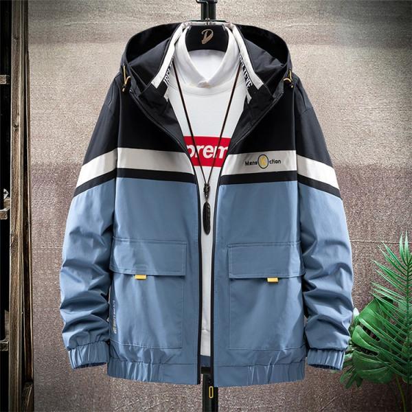 ウィンドブレーカー メンズ ジャケット 薄手 マウンテンパーカー ジャンパー ライトアウター 切替 お兄系 allforever 07
