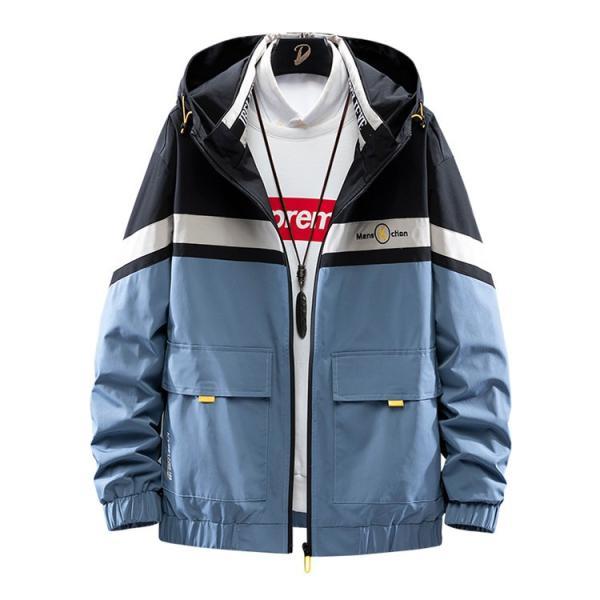 ウィンドブレーカー メンズ ジャケット 薄手 マウンテンパーカー ジャンパー ライトアウター 切替 お兄系 allforever 08