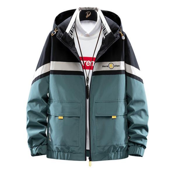 ウィンドブレーカー メンズ ジャケット 薄手 マウンテンパーカー ジャンパー ライトアウター 切替 お兄系 allforever 09