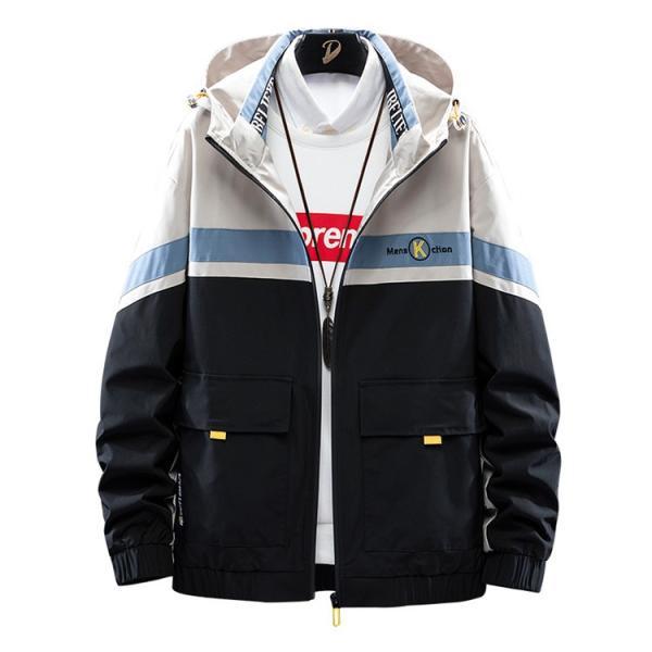ウィンドブレーカー メンズ ジャケット 薄手 マウンテンパーカー ジャンパー ライトアウター 切替 お兄系 allforever 10