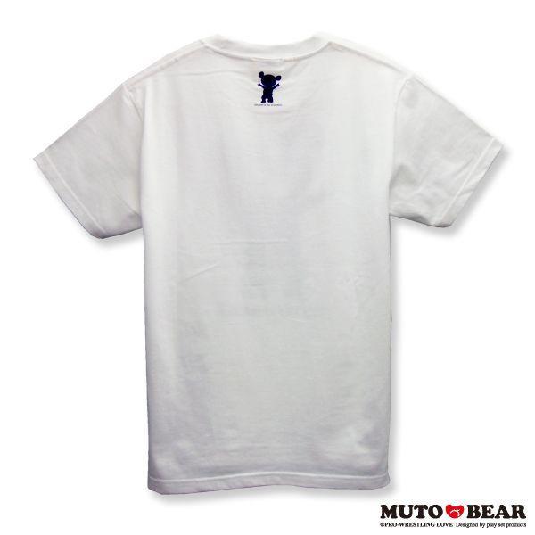 武藤ベアー チェックブルー Tシャツ ホワイト|alljapan|02