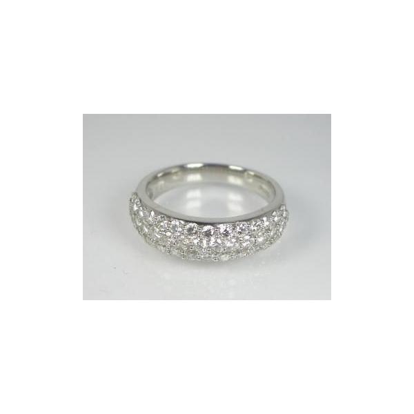 K18WG ホワイトゴールド ダイヤモンド リング