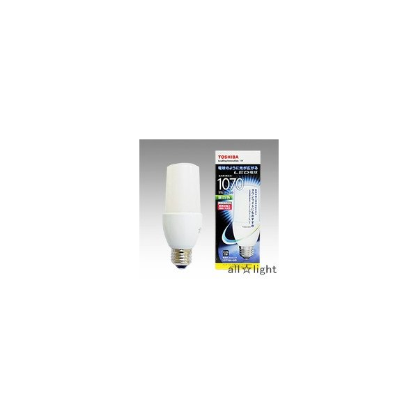 東芝 E−CORE LED電球 T形 断熱材施工器具対応 昼白色 E26口金 全光束1,070lm 器具光束白熱電球100W形相当 密閉器具対応 LDT10N-G/S