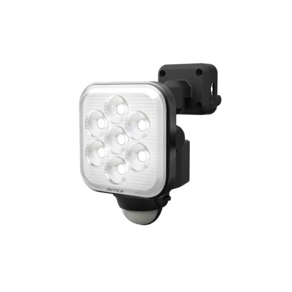 ムサシ RITEX センサーライト LED 100V 人感センサー内蔵 フリーアーム式 ハロゲン200W相当 11W×1灯 高輝度白色LED 約1000lm 防雨形 IP44 LED-AC1011
