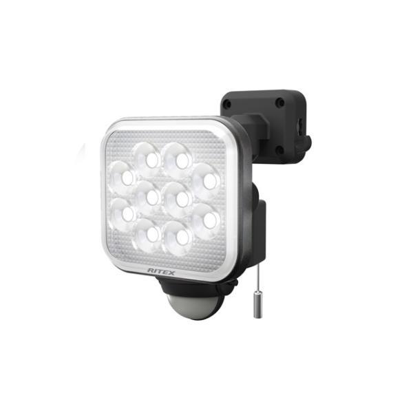 ムサシ RITEX センサーライト LED 100V 人感センサー内蔵 防雨形 12W×1灯 フリーアーム式 LED-AC1012