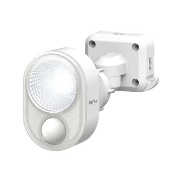 ムサシ RITEX センサーライト LED 100V 人感センサー内蔵 ハロゲン60W相当 4W×1灯 300lm 防雨タイプ IP44 LED-AC103