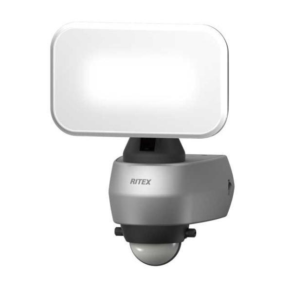 ムサシ RITEX センサーライト LED 100V 人感センサー内蔵 ハロゲン70W相当 9Wワイド 高輝度白色LED 650lm 防雨タイプ IP44 LED-AC309