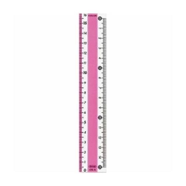 カラー直線定規 ピンク CPK-15-P ( × 3 枚 ) 共栄プラスチック/メール便送料無料