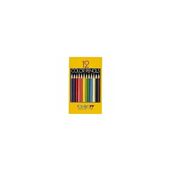 【× 2 本 】色鉛筆 NA 12色 紙箱入 CQ-NA12C  トンボ鉛筆
