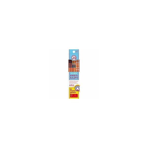 【3個】鉛筆 F木物語 かきかた 2B KB-KF01-2B 水色 1ダース  トンボ鉛筆