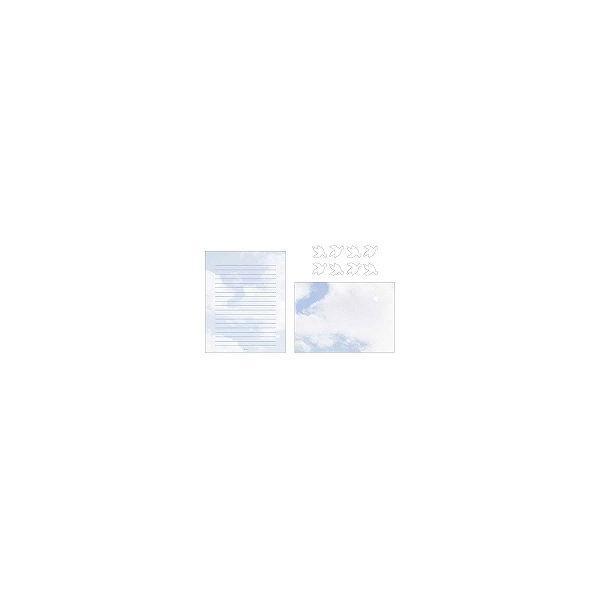 ミドリ レターセット 空色ノキモチ 86099006/メール便送料無料