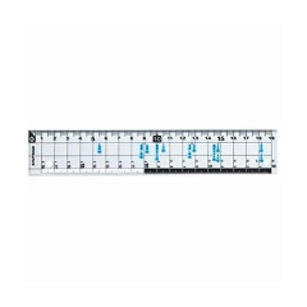クツワ HiLiNE サイズカッター定規 19cm KB015 ( 2 セット)/メール便送料無料
