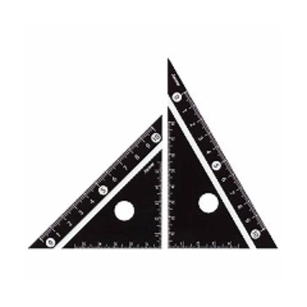 レイメイ藤井 定規 見やすい白黒 三角定規 黒 10cm APJ251B ( 2セット)/メール便送料無料