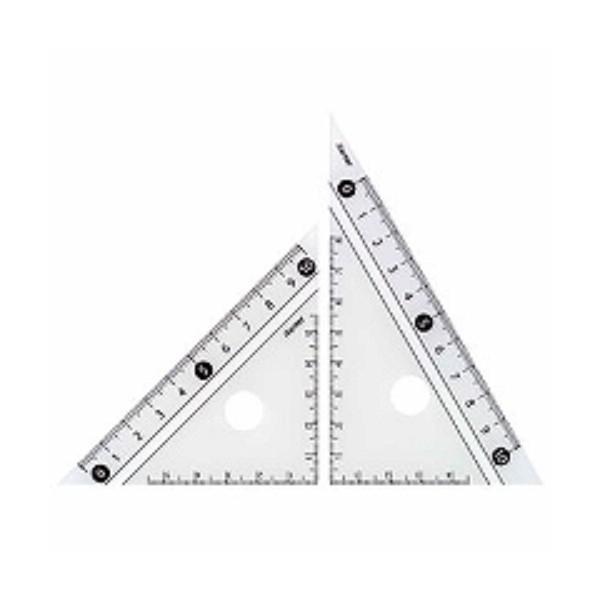 レイメイ藤井 定規 見やすい白黒 三角定規 白 10cm APJ251W/メール便送料無料