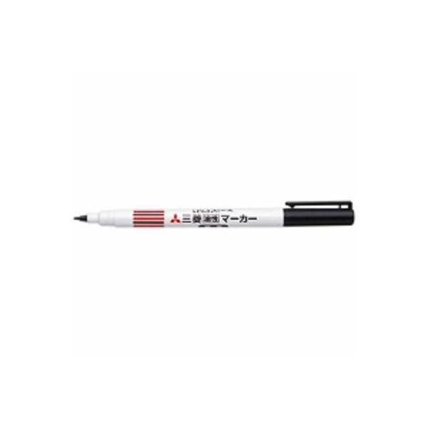 三菱鉛筆 油性マーカー ピース 黒 A5E.24 ( 3セット)/メール便送料無料
