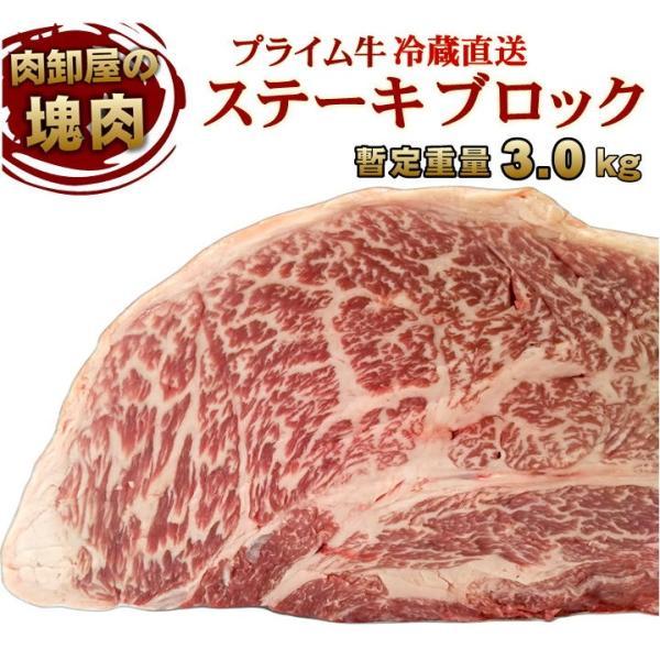 塊肉 冷蔵直送 3kg〜 アメリカ産  最高品質プライム 特上ステーキブロック 量り売り