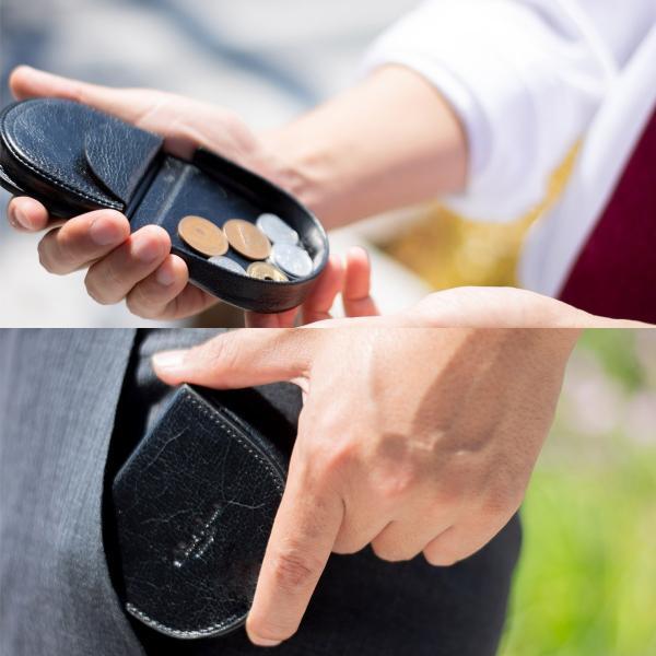 コインケース メンズ 馬蹄 本革 牛革 イタリアンレザー ホースシュー BOX 型 ボタン留め 小銭入れ 小さい コンパクト 軽い 財布 ブランド おしゃれ 送料無料 allrightleather 04
