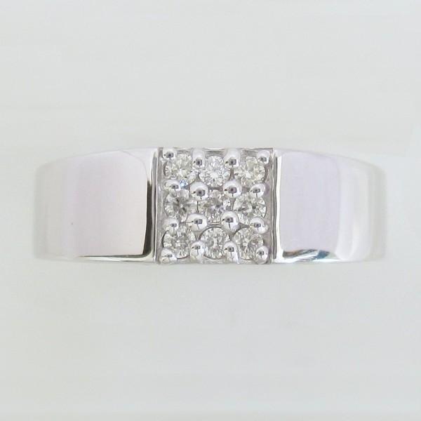 ダイヤモンド プレゼント 彼女 ギフト 指輪 リング K18WG   ピンキーリング 小指 シンプル ホワイトゴールド  【5号サイズ】