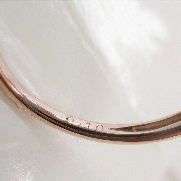 ダイヤモンド プレゼント 彼女 ギフト 指輪 リング K18PG  ハート  ピンキーリング 小指 ピンクゴールド  【4号サイズ】