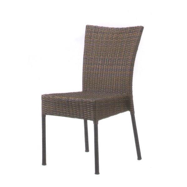 クレタ チェア ダークブラウン 肘無し 背もたれ 一人用椅子 腰掛 踏み台 椅子 チェア ガーデンチェア ガーデンファニチャー