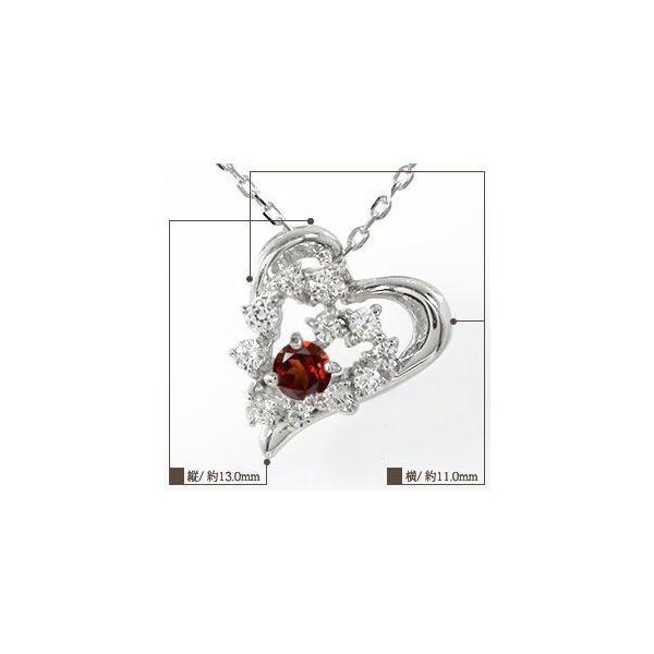 ペンダント トップ ガーネット ハート 流れ星 ネックレス 18金 美しい 誕生石ペンダント チャーム レディース