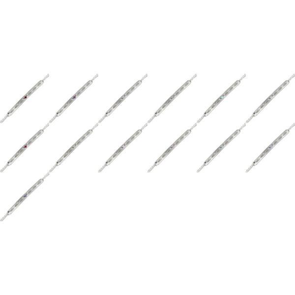 ブレスレット ピンクトルマリン ブレスレット インディアンジュエリー フェザー 羽根 カラーストーン プラチナ 誕生石 レディース
