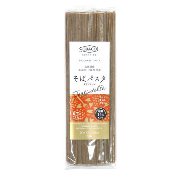 そばパスタ タリアテッレ 200g(6mm 平麺)【北海道産 蕎麦 小麦粉 パスタ 乾麺】【山加製粉】