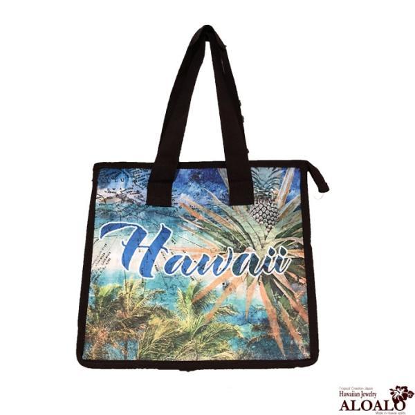ハワイアン 厚手 保冷バッグ 大き目タイプ 厚手のしっかりクーラー 防水加工 ハワイ ハワイ雑貨 アロハ エコバッグ マルシェバッグ