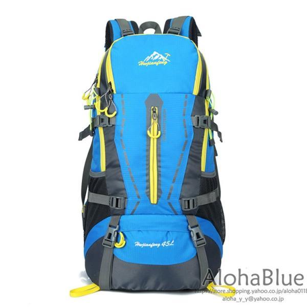 リュックサック メンズ レディース 登山リュック バックパック 大容量 防災リュック トレッキング 軽量 撥水 アウトドア 2020|aloha0118|08