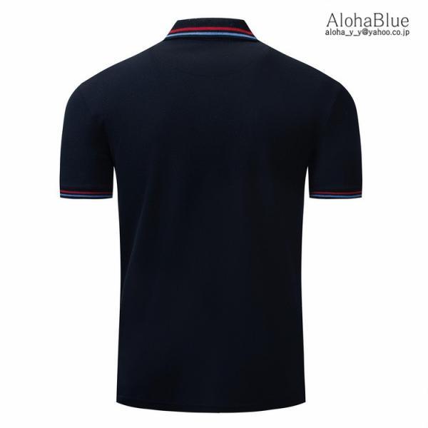 ゴルフウェア ポロシャツ メンズ Tシャツ ポロ ロゴ刺繍 カジュアルシャツ ゴルフシャツ POLO 夏 半袖 100%コットン 父の日 40代|aloha0118|05