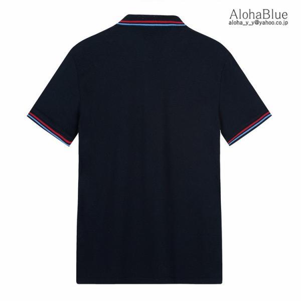 ゴルフウェア ポロシャツ メンズ Tシャツ ポロ ロゴ刺繍 カジュアルシャツ ゴルフシャツ POLO 夏 半袖 100%コットン 父の日 40代|aloha0118|07