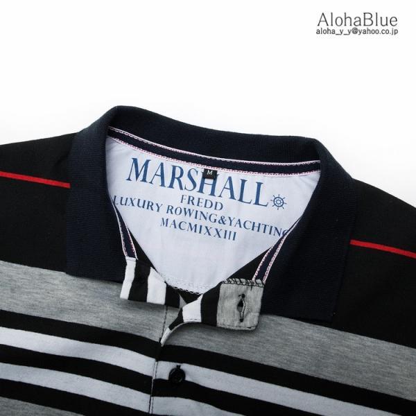 ボーダーポロシャツ メンズ Tシャツ ポロ ゴルフウェア ポロシャツ POLO ボーダー柄 半袖 100%コットン 父の日 40代 50代 60代 ファッション|aloha0118|08