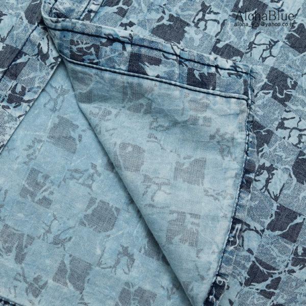 シャツ メンズ ダンガリーシャツ おしゃれ カジュアルシャツ 長袖シャツ ウォッシュ ダンガリー トップス ゆったり 総柄 ヴィンテージ風 父の日|aloha0118|16
