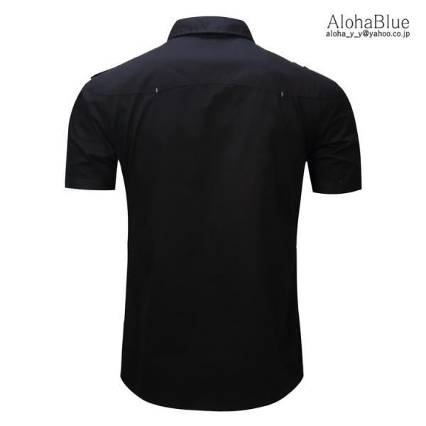 ミリタリーシャツ メンズ 半袖 シャツ カジュアルシャツ ワークシャツ アウトドア 登山 夏物 2019|aloha0118|12