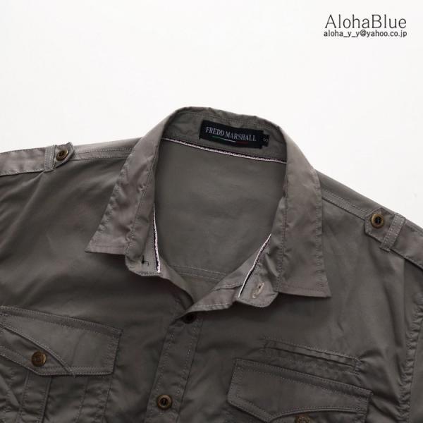 ミリタリーシャツ メンズ 半袖 シャツ カジュアルシャツ ワークシャツ アウトドア 登山 夏物 2019|aloha0118|13