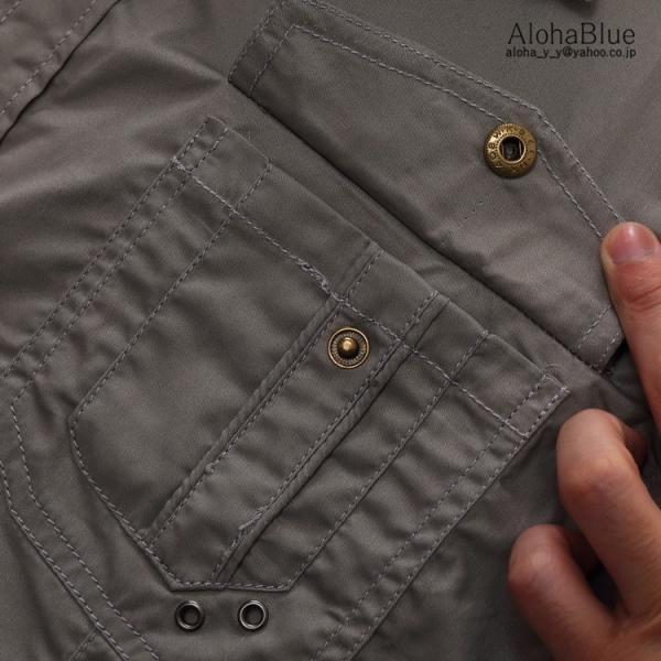 ミリタリーシャツ メンズ 半袖 シャツ カジュアルシャツ ワークシャツ アウトドア 登山 夏物 2019|aloha0118|16