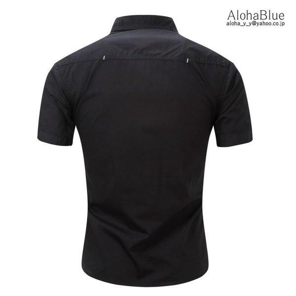 シャツ メンズ 半ミリタリーシャツ 袖 ワークシャツ カジュアルシャツ トップス アウトドア ミリタリー父の日|aloha0118|12