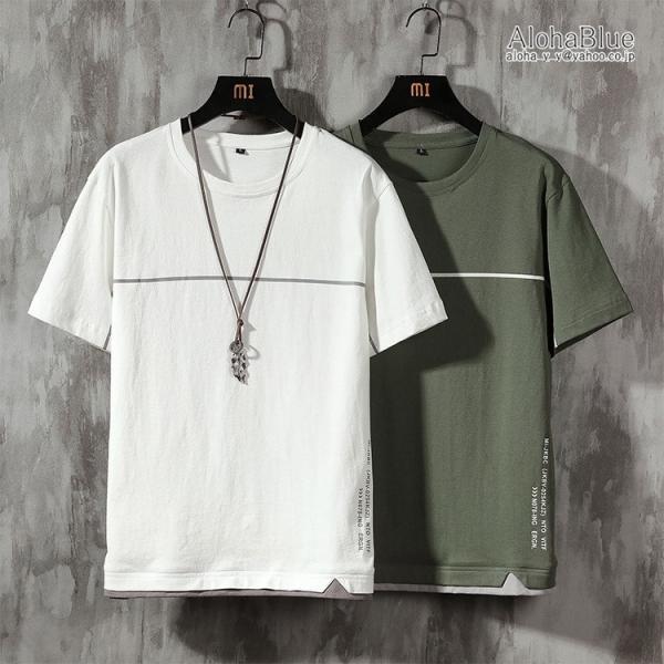 Tシャツメンズファッション夏半袖tシャツカットソートップスtシャツアメカジ100%綿カジュアルティーシャツ
