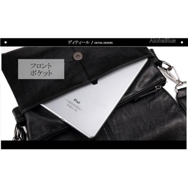メッセンジャーバッグ メンズ ショルダーバッグ 大きめ A4 カバン バッグ 蓋付き ビジネスバッグ 斜めがけバッグ 通学 通勤 多収納 2019 新生活 aloha0118 12