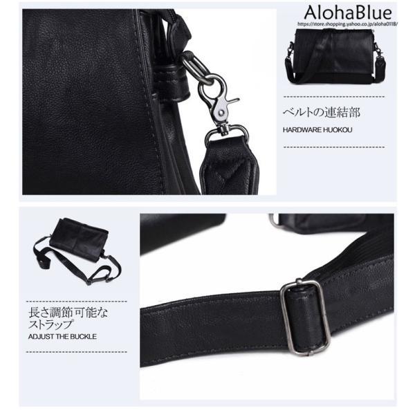 メッセンジャーバッグ メンズ ショルダーバッグ 大きめ A4 カバン バッグ 蓋付き ビジネスバッグ 斜めがけバッグ 通学 通勤 多収納 2019 新生活 aloha0118 14